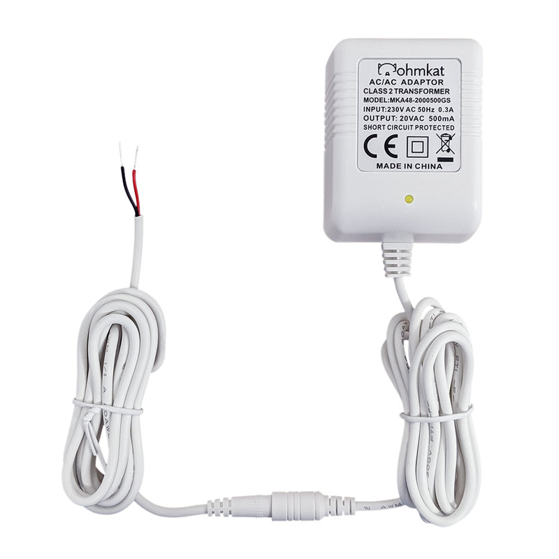 OhmKat 230V Video Doorbell Power Supply - Compatible with Nest Hello