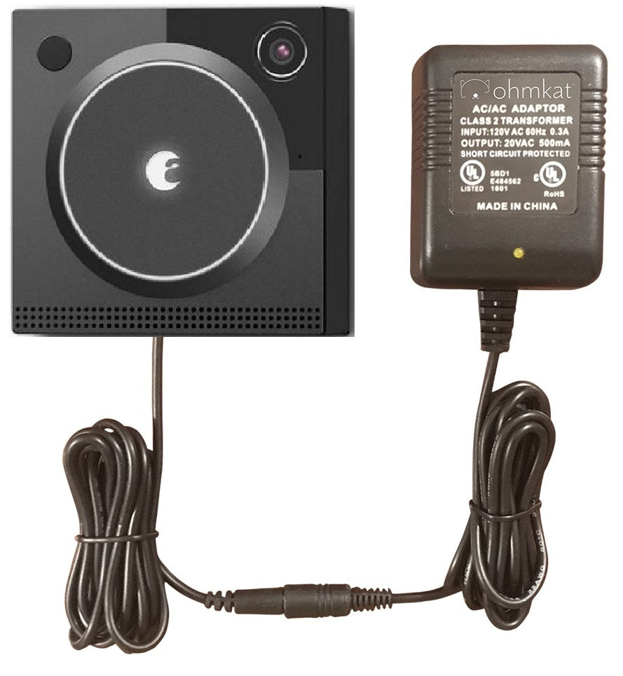 OhmKat Video Doorbell Power Supply - Compatible with August Doorbell Cam PRO