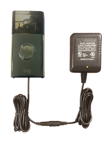 OhmKat Video Doorbell Power Supply - Compatible with Ring Video Doorbell