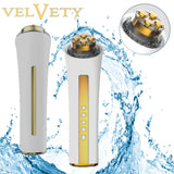 VELVETY Face Revolution 3 in 1 LED Skin Care Device Remove Wrinkles Acne & Blackheads Red Light Massages By Haleness Pro