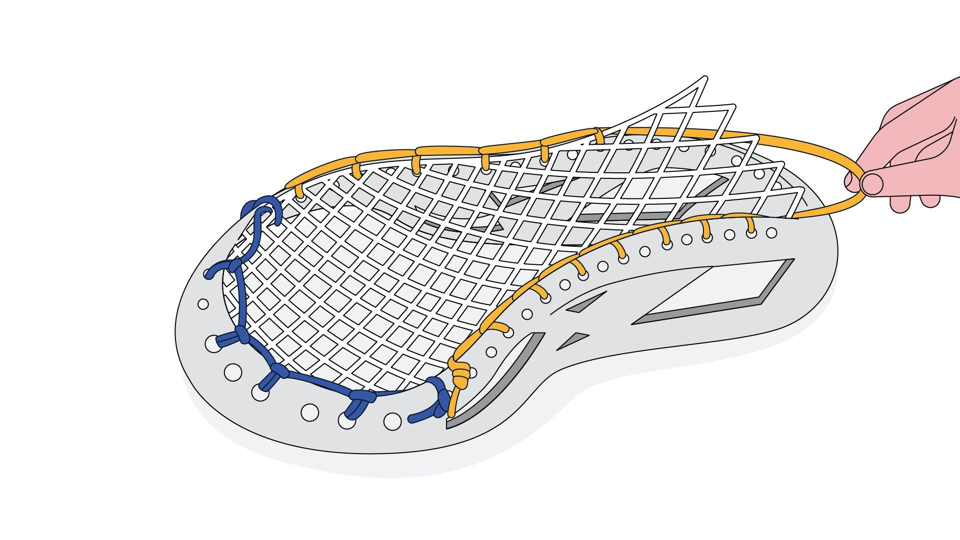 How to string a lacrosse head sidewall