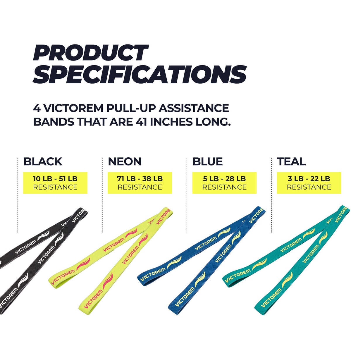 pull-up bands specifications