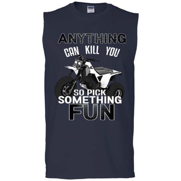 Anything Can Kill You - Gildan Men's Ultra Cotton Sleeveless T-Shirt