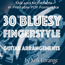 30 Bluesy Fingerstyle Guitar Arrangements - TAB/Notation - Printable PDF