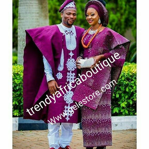 Traditional attire from mother land! Celebrant Aso-oke set. Custom Made-to-order. Give us your design/color, we will cloth you like a star on your Big day!!!