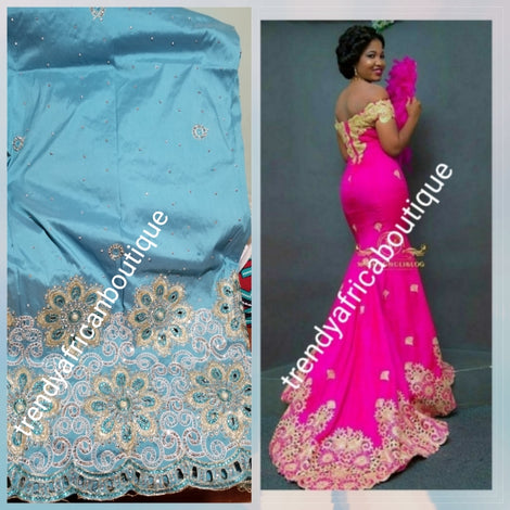 Superior Quality Nigerian traditional Georges. Small/medium design. crystals, Beaded or Embroidery work. quality taffeta fabric for dresses, wrapper or skirt/blouse. Contact us for. Aso-ebi order