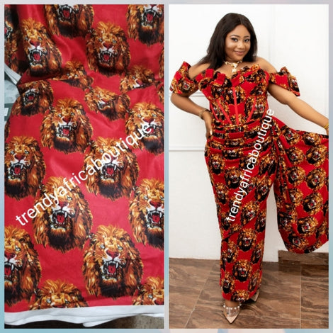Original traditional Igbo Isi-Agu. Tiger head or lion head fabric. Soft/Luxurious quality you will fall in love with. Use for weddings/cultural ceremonia men shirt and women wrapper/blouse. Contact use for special price for Aso-ebi