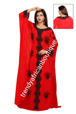 Indian Kaftan/Bubu dress embellished with stones or sequence
