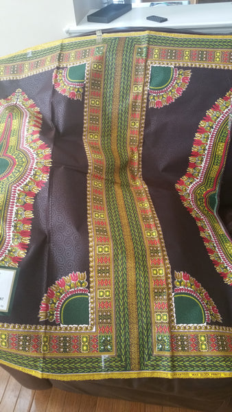 Colorful African Brocade Dashiki cotton wax print assorted colors available. Sold per 6yrds. And price is for 6yrds