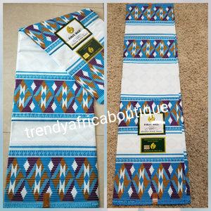 Latest Kente Ankara wax print fabric. Original luxery quality for men And women. Sold per 6yds. 100% cotton Ankara wax print fabric.
