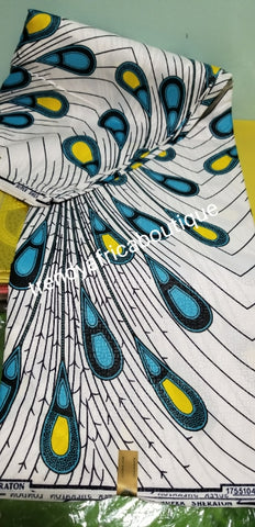 Nigerian veritable Holland Wax print. Cotton Ankara for making fabulous African Styles. Sold by 6yds.