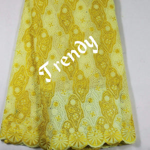 Clearance Assorted colors of Quality dry swiss lace fabric for African traditional native wear. Sold per 5yds.