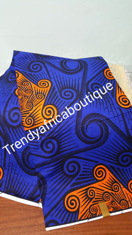 Ankara wax print fabric for African dresses. 100% fabric, sold per 6yrds/lenght.