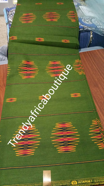 Nigerian/African cotton wax print fabric for making beautiful party dresses. Sold 6yrds per length