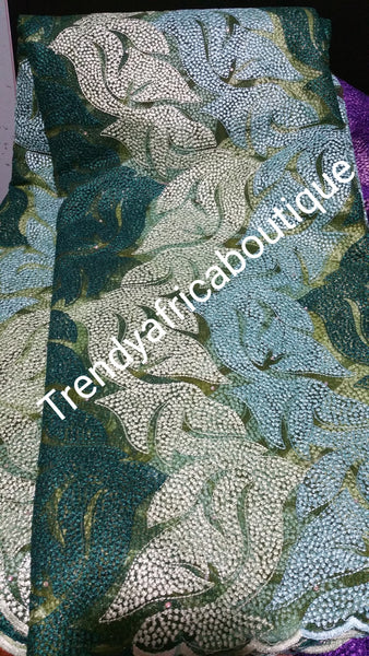 Sale: Quality Tulle french lace fabric in olive/mint green. Sold per 5yards. Price is for 5yards