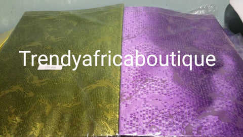 2 in 1 pack Sago gele head tie for Nigerian head wrap. Beautiful design. Only 3 colors left in stock