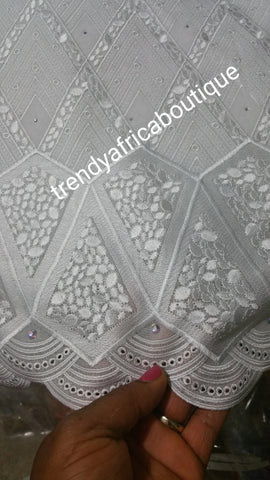 Exclusive design Swiss lace fabric. Original quality design. Soft texture. Sold per 5yds.