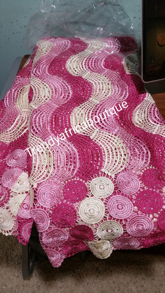 Quality Cord/guipure swiss lace Fabric for African/Nigerian Party dresses. Sold by 5yds and price is for 5 yards. Soft, quality? * elegant design