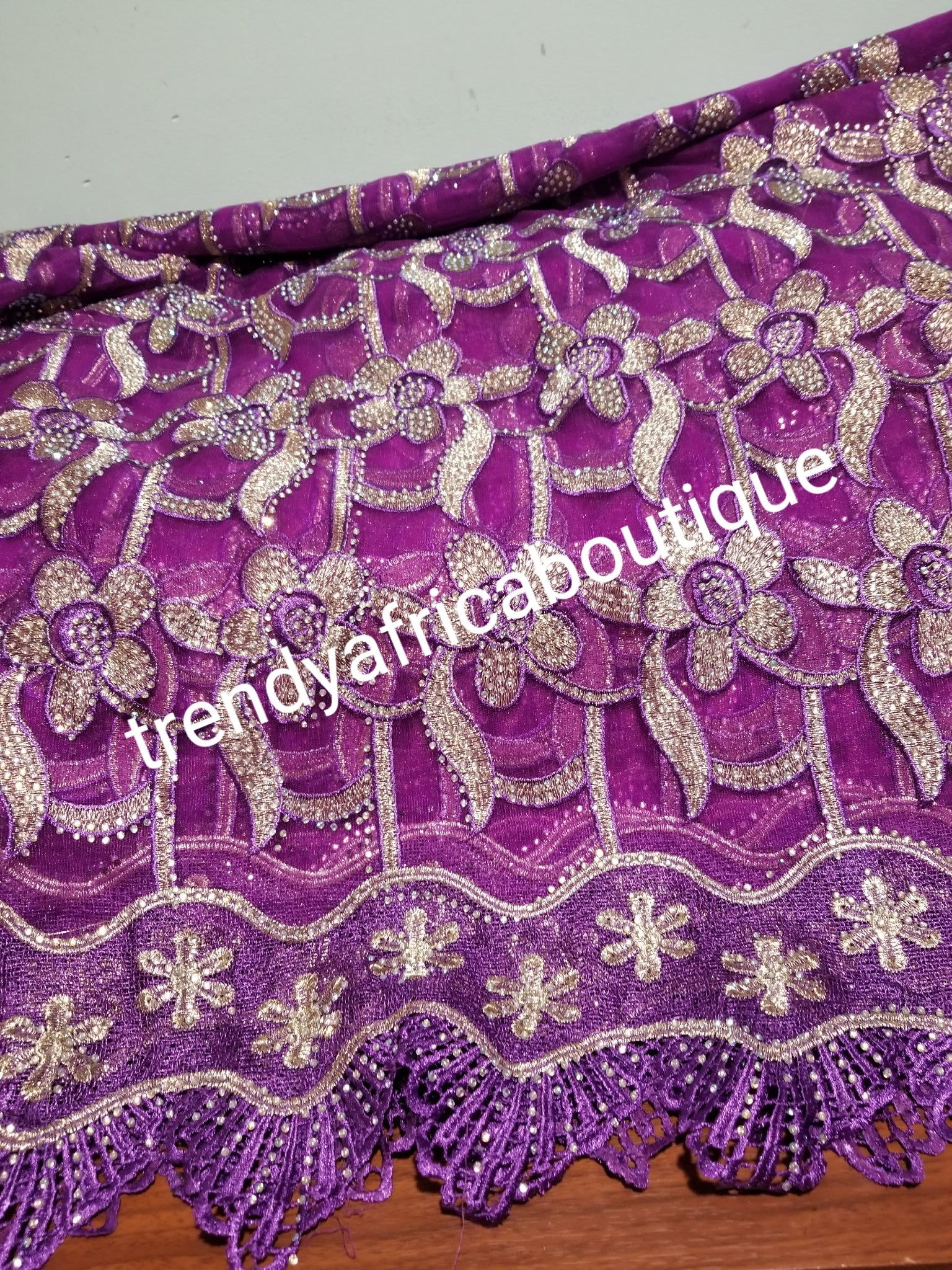 Classic African  Net French lace fabric. All over stones. Nigerian Party Lace. Sold per 5yds. Price is for 5yds.