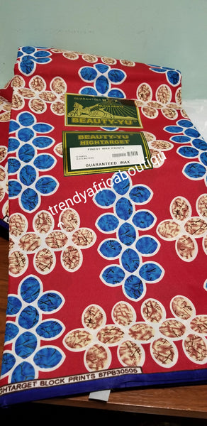 Latest African 100% Cotton Ankara prints for making dresses. Sold per 6yds. Cotton wax print fabric