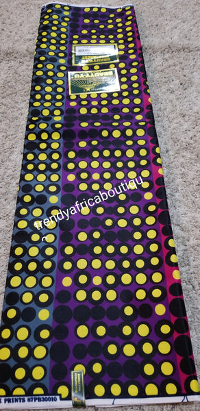 Sale: 100% cotton wax print. Sold per 6yds. Nigerian Ankara wax print.