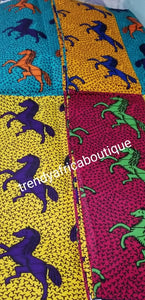 West Africa Veritable wax print fabric in multi color shades. Ankara print sold per 6yds, price is fior 6yds