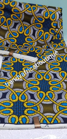 New arrival cotton African Ankara Wax print fabric. Superior quality fabric sold per 6yards and price is for 6yards lenght