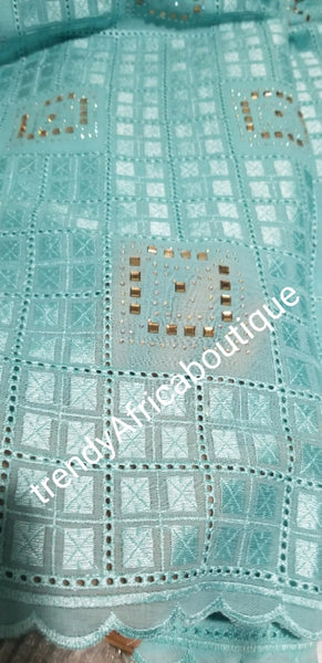 Top Quality Swiss Atiku Lace Fabric for Men. Soft texture, Great Quality fabric. Beautiful Stone work. African swiss lace a