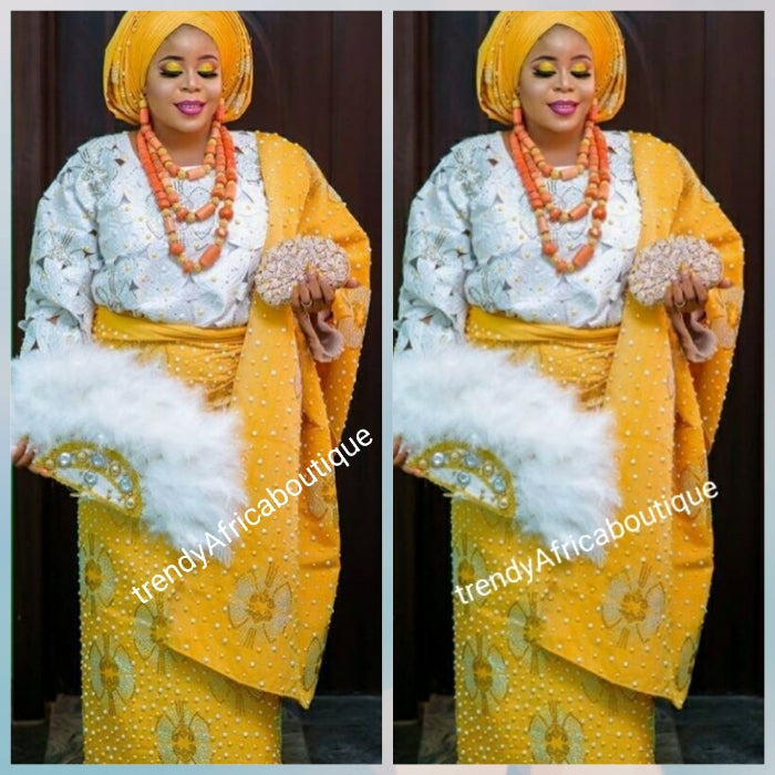 Made-to-Order Beaddazzled aso-oke Gele set. Custom-made to your size for that special occasion. Full set  CELEBRANT Nigerian traditional Native aso-oke embellished with rhinstones, Latest design. Allow 6-8 weeks for production to delivery