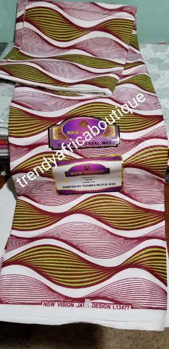 100% Quality African Wax print fabric. Ankara wax print for making various African outfits. Soft texture, excellent quality. Dold per 6yds
