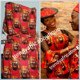 Sale; Original quality Red Isi-agu Igbo traditional wrapper use by men or women. Sold per yard, price is for one yard. Nigerian/igbo ceremonia fabric. Soft texture, authentic isi-agu fabric for Igbo title ceremony. Lion head fabric
