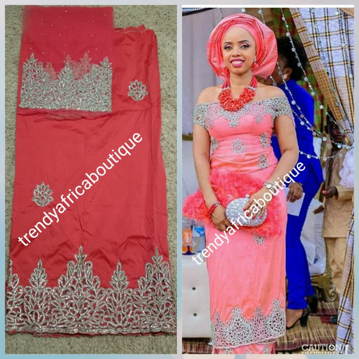 Special Offer, New Arrival Coral VIP Silk George Wrapper