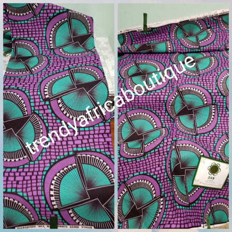 100% veritable cotton Ankara wax print fabric. Sold per 6yds. Price is for 6yds. Soft texture. Good quality for making fabulous African outfit