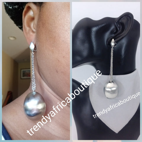 Latest drop-earrings in silver electroplating. Top quality made hypoallergenic. Long lasting. Light weight earrings