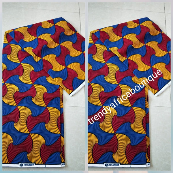 New arrival Guarantee African Veritable cotton wax print. Hollandaise Soft texture with quality design. Ankara was print in soft texture, Sold as 6yards. Luxuriouse quality