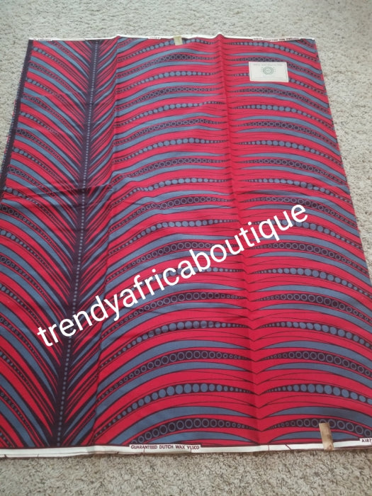 Guaranteed veritable African wax print fabric. 100% cotton Ankara print for making African party outfit for men and women. Sold per 6yds and price is for. Red/Gray