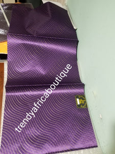 New arrival purple 2 in 1 pack Sago gele head tie for Nigerian head wrap. Beautiful design. Soft texture, easy to tie into beautiful Nigerian party gele. Excellent quality. Sold as a park