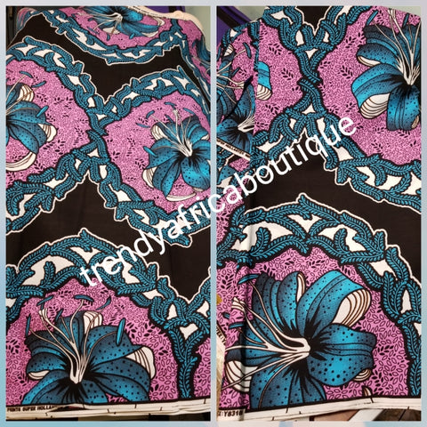 100% veritable cotton Ankara wax print fabric. Sold per 6yds. Price is for 6yds. Soft texture. Excellent quality for making fabulous African outfit