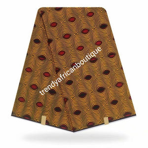 New arrival Guarantee African Veritable cotton wax print. Hollandaise Soft texture with quality design. Ankara was print in soft texture, Sold as 6yards. Luxuriouse quality ankara
