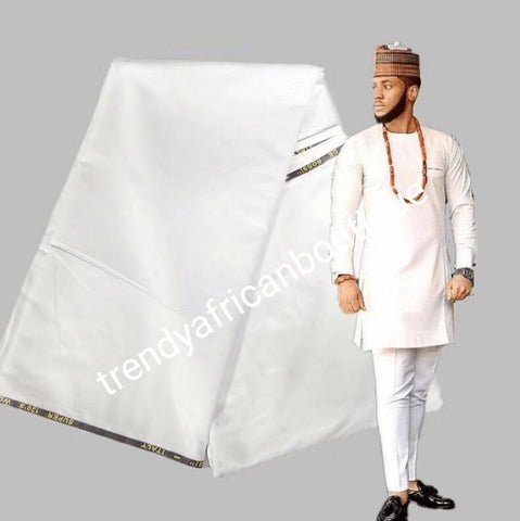 Pure white cashmere/wool blend quality  swiss voile lace fabric for Nigerian/African Men native outfit. Soft quality fabric.  Sold per 5yds. Price is for 5yds