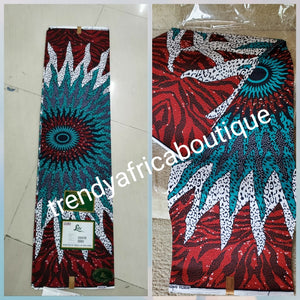 Beautiful Wine/white 100% cotton Nigerian Ankara wax print fabric. Sold per 6yds. Quality Lustrous Ankara for making African dresses. New arrival veritable wax print fabric