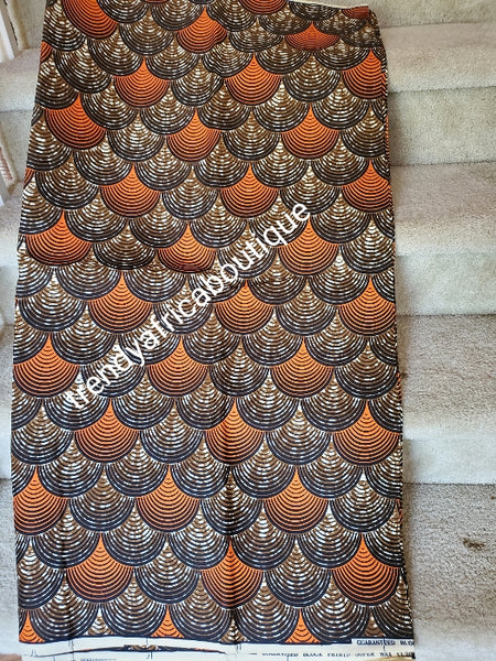 Beautiful veritable African cotton  wax block print fabric. super wax print fabric for making men and women dresses. Sold per 6yds. Price is for 6yds.