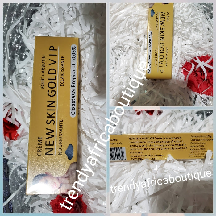 New skin Gold VIP Eclaircissant corrective tube cream 50g. Formulated with kojic + Arbutin