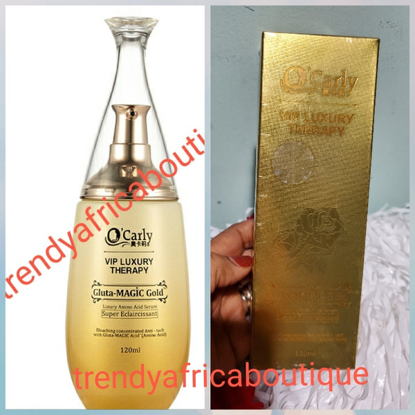VIP LUXURY amino acid therapy serum/oil. gluta magic gold concentrad, strong Eclaircissant. Powerful anti stains and discolorations. You can mix into your body lotion