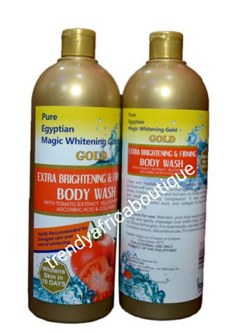 Pure Egyptian magic gold  whitening and firming shower gel. With ascorbic acid, + glutathione 1000ml