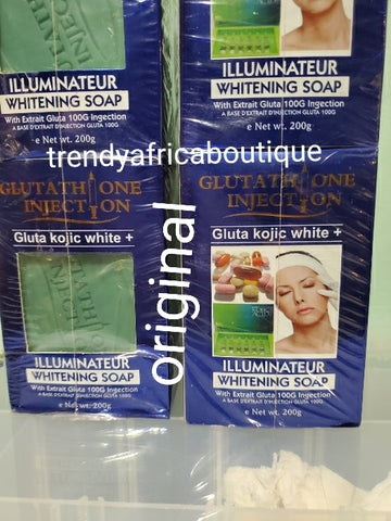 Abebi white illuminateur whitening face and body soap with gluta kojic white plus 100g injection soap 200g