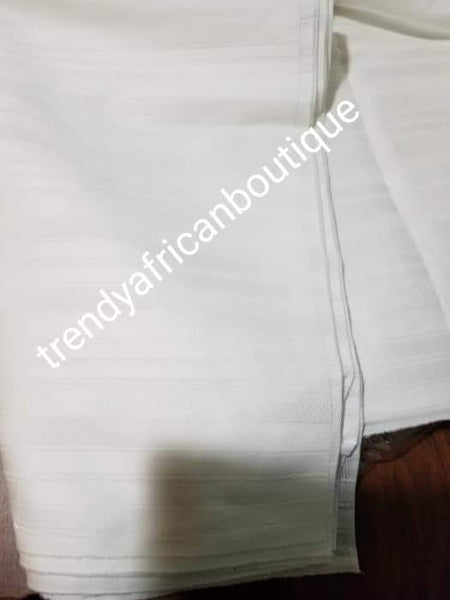 Sale sale: Top quality  Pure white swiss voile lace fabric for Nigerian Men native outfit. Soft quality fabric. Can be use for agbada/3pc outfit for men. Sold per 5yds. Price is for 5yds