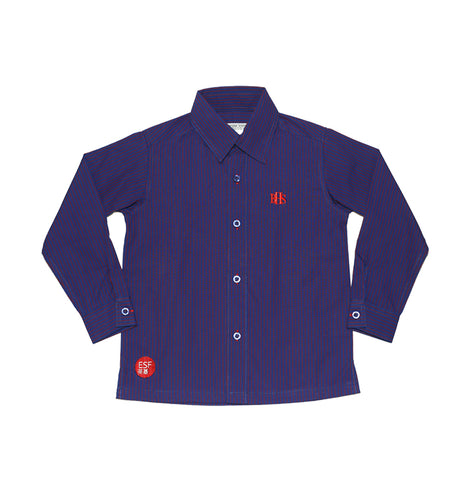 BHS Unisex Long-sleeved shirt, Purple with stripe