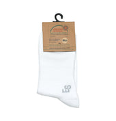 Peak School Bamboo Socks, Knee High, White