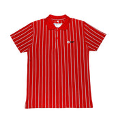 DC Boys Secondary Short-sleeved Polo, Red with Stripes